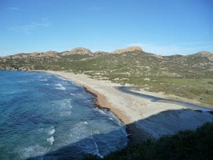 Ostriconi beach, Corsica. Join us on our 2017 Corsica car tour.