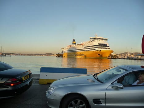 Toulon ferry terminal to Corsica. Join us on our Corsica car tour.