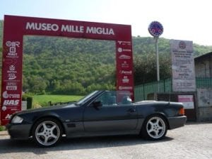 The Mille Miglia museum in Brescia.Join us on our tour to watch the 2018 Mille Miglia