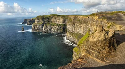 The cliffs of Moher.Join us on our Ireland car tour