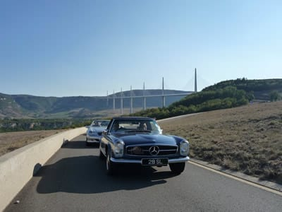 Millau bridge, Monaco Historic Grand Prix 2018 tour