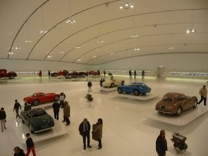 The new Ferrari museum in Modena.Join us on our 2018 Mille Miglia Tour