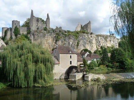 Angles-sur-l'Anglin.Join us on our Angouleme Circuit des Remparts tour