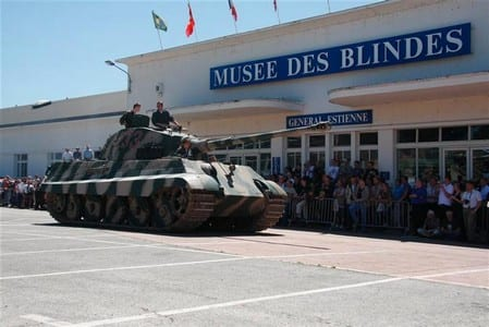 Musee des blindes, the Tank museum in Saumur.Join us on our Loire Valley car tour