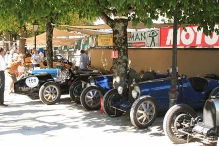 Bugattis at Angouleme.Join us on our Angouleme Circuit des Remparts tour