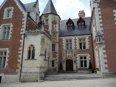 Chateau du Clos Luce, the former home of Leornardo de Vinci.Join us on our Loire Valley car tour