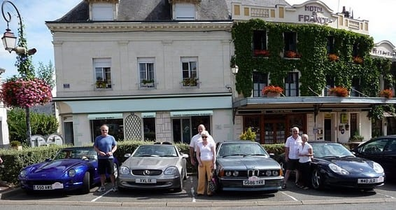 Hotel De France, La Chartre-sur-le-Loir.Join us on our Loire Valley car tour