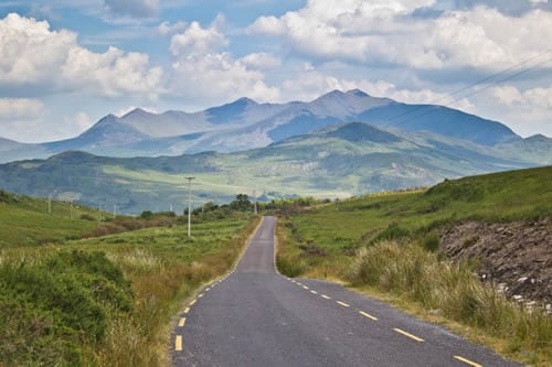 The mountains of Macgilycuddy's Reeks.Join us on our Ireland car tour