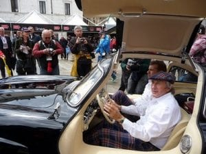 Jackie Stewart at the 2010 Mille Miglia, Brescia.Join us on our tour to watch the 2018 Mille Miglia