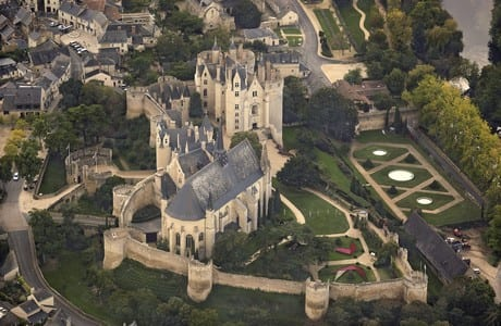 Montreuil Bellay chateau.Join us on our Loire Valley car tour